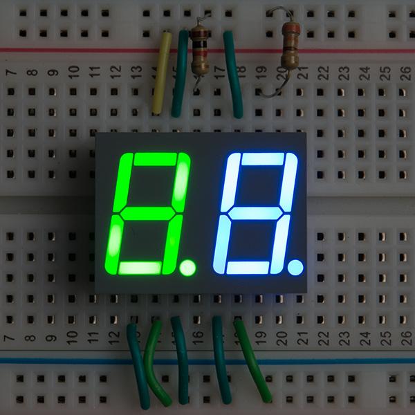 Dual 7-Segment Display - LED (RGB) - COM-13999