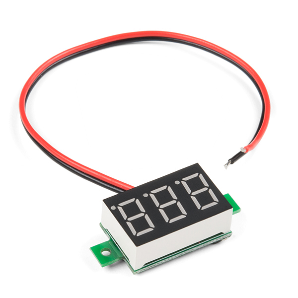 Led Voltmeter Kits : Digital led voltmeter prt sparkfun electronics