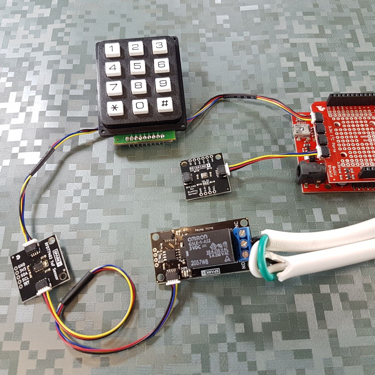 Qwiic keypad example