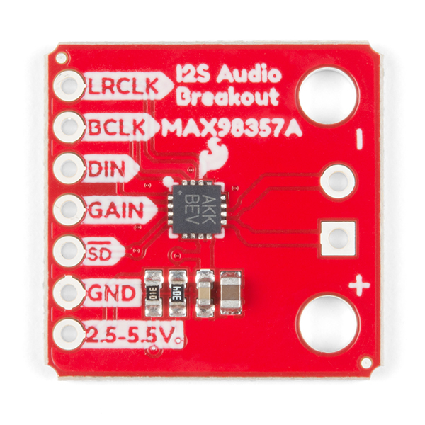 I2S Audio Breakout Board Top View