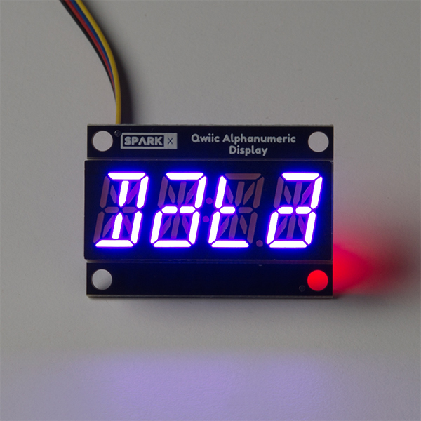 Qwiic Alphanumeric Display - Purple