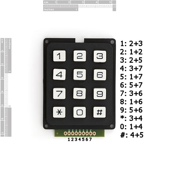 Keypad button com sparkfun electronics