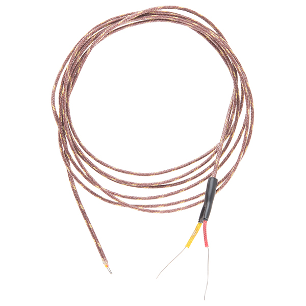 3 Wire Thermocouple : Thermocouple type k glass braid insulated bare wire