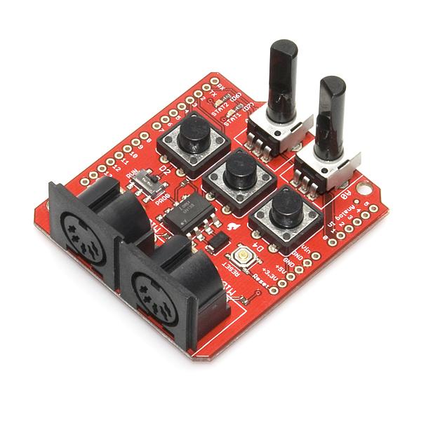 Sparkfun midi shield dev electronics