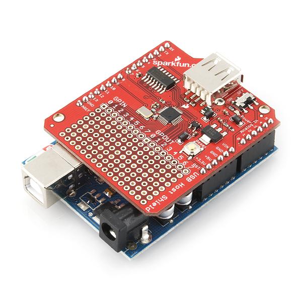 Sparkfun usb host shield dev electronics