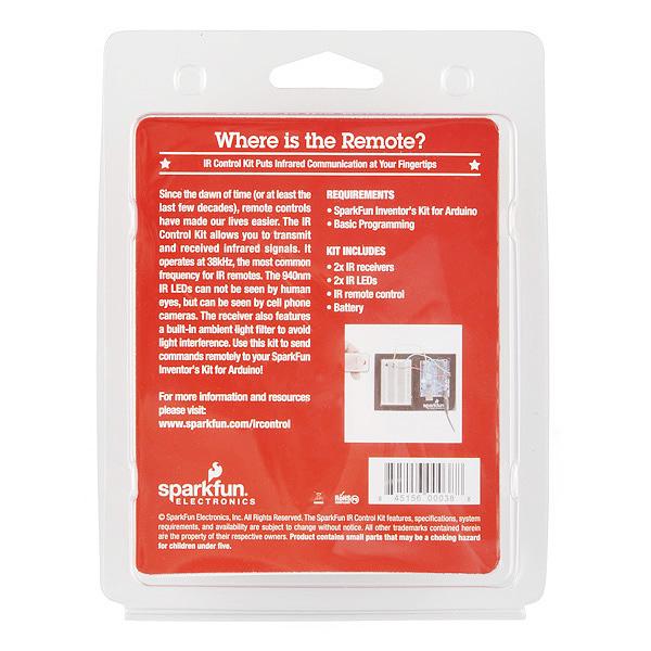 Ir Control Kit Retail Rtl 10783 Sparkfun Electronics