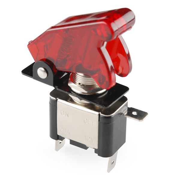Toggle Switch and Cover - Illuminated (Red) - COM-11310 ...
