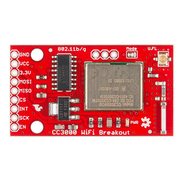CC3000 WiFi Breakout Board