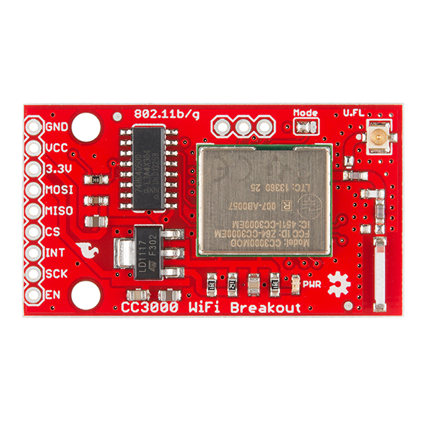 SparkFun WiFi Breakout - CC - WRL - SparkFun Electronics