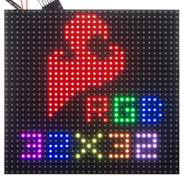 rgb led panel 32x32 com 12584 sparkfun electronics. Black Bedroom Furniture Sets. Home Design Ideas