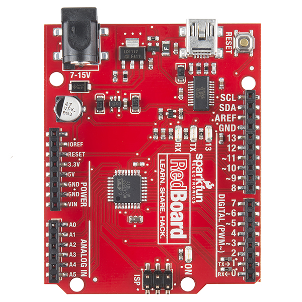Sparkfun Redboard Programmed With Arduino Dev 12757