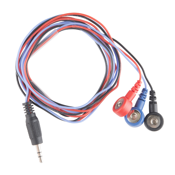 Sensor cable electrode pads 3 connector cab 12970 - Detector cables pared ...