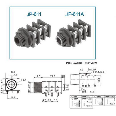 audio jack 1 4 stereo right angle com 11144. Black Bedroom Furniture Sets. Home Design Ideas