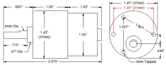 Standard Gearmotor - 20 Rpm  3-12v  - Rob-12288