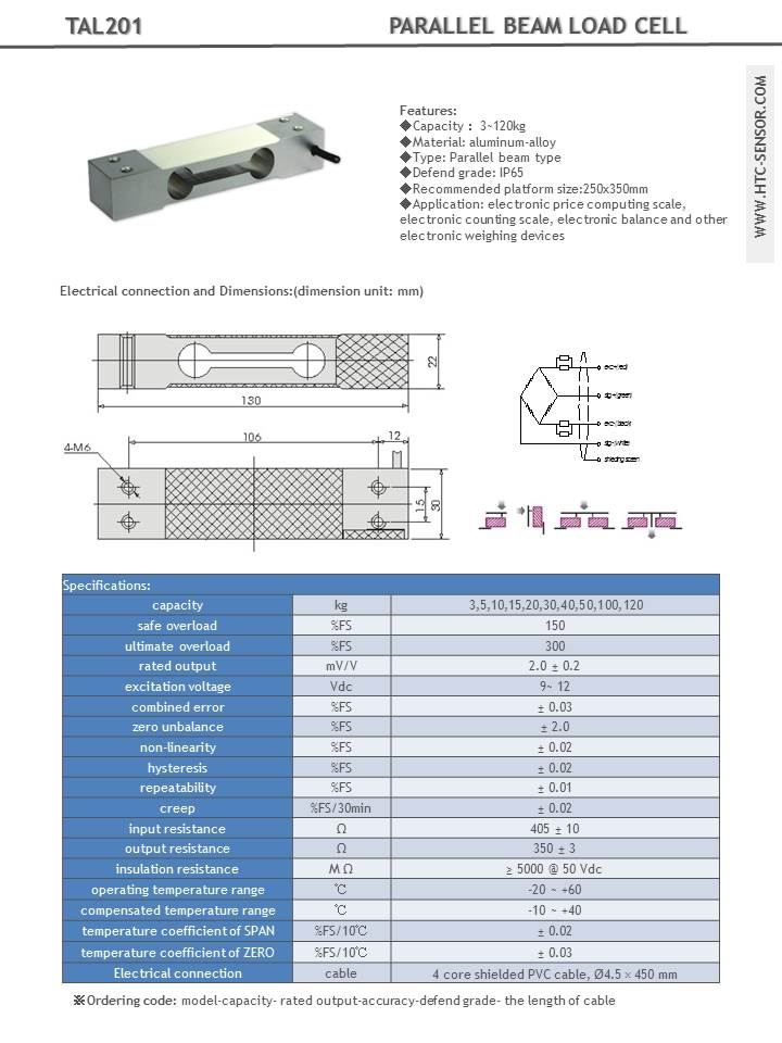load cell 10kg wide bar tal201 in india thingbits electronics rh thingbits net Strain Gage Wiring-Diagram Load Cell Sqb-A Wiring-Diagram