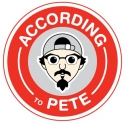 According to Pete
