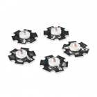 LED - 3W Aluminum PCB (5 Pack, Red)