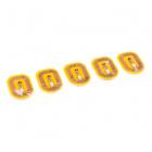 NFC LED Nail Sticker - Green (5 Pack)