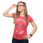 钱币大师女式衬衫-小(红色)