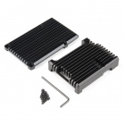 Aluminum Heatsink Case for Raspberry Pi 4 - Obsidian Black