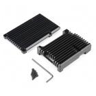 Aluminum Heatsink Case for Raspberry Pi 4 - Black