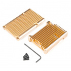 Aluminum Heatsink Case for Raspberry Pi 4 - Heliodor Gold