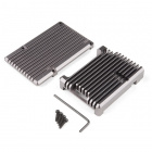Aluminum Heatsink Case for Raspberry Pi 4 - Magnetite Grey