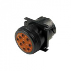 HD10 Series Housing for Male Terminals - 9 Way, Flange, Threaded Rear