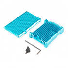 Aluminum Heatsink Case for Raspberry Pi 4 - Zircon Blue