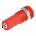 4mm Sheathed Banana Jack - 2mm Solder Cup (Red)