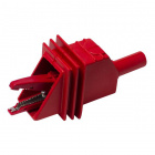 Fully Insulated Large Alligator Clip with 4mm Sheathed Banana Jack (Red)
