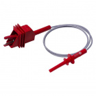 Large Alligator Clip to 4mm Long-Reach Banana Plug Test Lead - 100cm (Red)