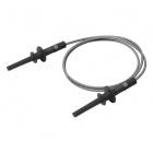 4mm Long-Reach Sheathed Banana Plug Test Lead - 100cm (Black)