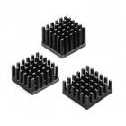 Heatsink - 21mm SQ, 15.24mm fin, Thermal Tape, Adhesive