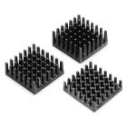 Heatsink - 25mm SQ, 6.35mm fin, Thermal Tape, Adhesive