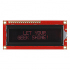 SparkFun Serial Enabled 16x2 LCD - Red on Black 3.3V