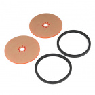 "Precision Disc Wheel - 4"" (Clear Pink, 2 Pack)"