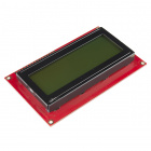 Basic 20x4 Character LCD - Black on Green 5V (Ding and Dent)