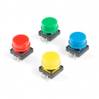 Multicolored Tactile Buttons - 4-Pack
