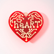 Heart   surface mount soldering kit
