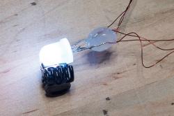 closeup of string lights