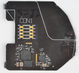 detail photo of the front of the same board, revealing all of the surface mount devices.