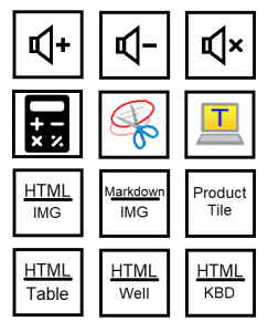Example stickers