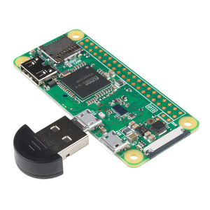 USB to micro-b Adapter between USB Device and Raspberry Pi Zero