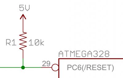 atmega328 reset pullup