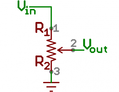 Schematic symbol for a potentiometer