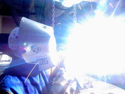 Welding torch flare