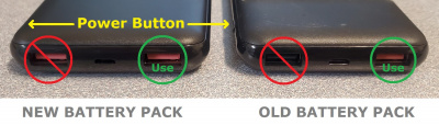 battery pack USB ports