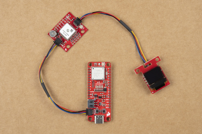 Qwiic devices connected to SparkFun expLoRaBLE