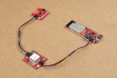 Qwiic devices connected to ESP32-S2 Thing Plus